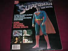 Vintage DC 1979 Superman the Movie Collectors Album Reeve Brando Hackman