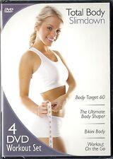 Total Body Slimdown. 4 DVD Workout Set.  Brand New! Body Shape, Bikini, Target