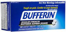 Bufferin Regular Strength Aspirin 325mg Tablets 130 ct Pain Reliever