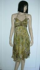 SUE WONG NOCTURNE SILK BEADED  DRESS Sz 2