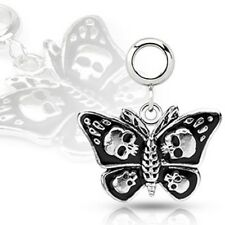 Add-On 316L Stainless Steel Skull Death Head Moth Dangle for Navel Rings, Der...