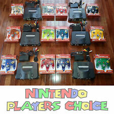 Nintendo 64 Console AC Power + AV Cable - 2 BRAND NEW CONTROLLERS TIGHT STICKS
