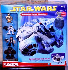 2002 Star Wars NIB Hasbro Playskool Millennium Falcon Adventure Playset w/figure
