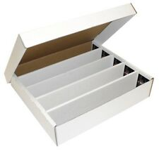 4 BCW 5000 Card Cardboard Super Monster Card Storage Boxes - New