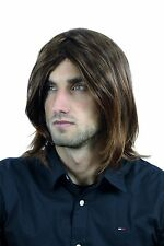 Male Wig Long Braun & Red brown bleeched Points Middle part CM-431