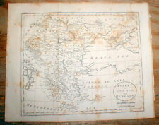 Original 1809 map of GREECE & TURKEY & HUNGARY before Greek War of Independence