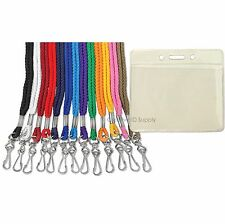 Lot of 25 NECK Lanyards + Badge Holders FREE SHIP SALE