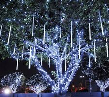 Meteor Shower Rain LED Solar String Lights Christmas Wedding Garden 30CM 8Tube