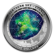 2016 Australian 1 oz .999 Silver Color Domed Northern Sky Cygnus Proof Coin
