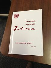 Lancia Fulvia Coupe Sport 1.3S/HF Instruction Handbook