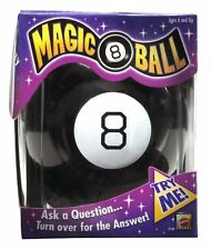 Classic Magic 8 Ball Toy by Mattel, Black, New, Free Shipping