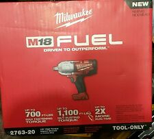 "Milwaukee 2763-20 M18 Cordless Li-Ion 1/2"" HighTorque Impact Wrench w/Ring, Bare"