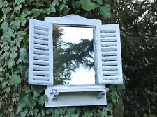 Shabby Chic Garden Mirror Window small French country aged look White Wash 46CM