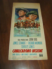 LOCANDINA,Cavalcarono insieme Two Rode Together,James Stewart  Widmark.Ford John