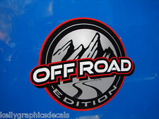 "Custom Emblem Decal Pair ""OFF ROAD EDITION""  Sticker ATV Truck Jeep"