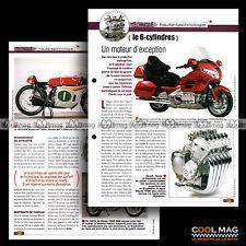 #jbt40.004 ★ TECHNIQUE DES 6 CYLINDRES (HONDA GL 1800, CBX 1000...) ★ Fiche Moto