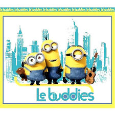 """35""""x44"""" PANEL  LE BUDDIES MINIONS WALLHANGING  COTTON FABRIC  QUILTING TREASURES"""