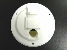 RV Camper Trailer Power Cord / Cable Hatch / Cover - White - Flip up - NEW