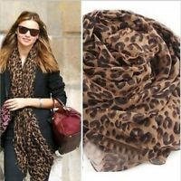 New Women Fashion Long Style Wrap Lady Shawl Leopard Chiffon Scarf Scarves Stole