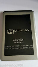 PREMIUM MICROMAX A25 A52 Battery-1800MAH FOR MICROMAX A25-A52 Battery-1800mah