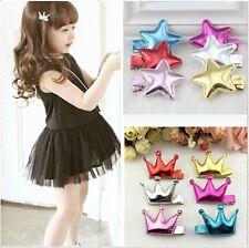 10pcs/lot Crown stars hair clips baby girl hairwear baby&kids hairpins children