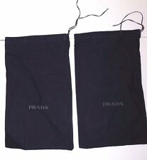 PRADA set of (2) Felt Cotton Shoe Bags Dark Navy Blue