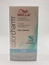 100%Authentic Wella Color Charm Liquid Hair Toner1.42 oz-T18 Lightest Ash Blonde