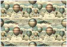 BomoArt Air Balloon Wrapping Paper (70cm x 100cm)