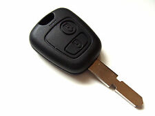 Peugeot 406 2 Button Remote Key Fob + Blank Key Blade