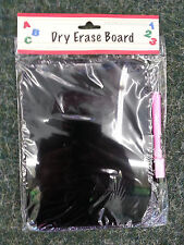 MINI Magnetic Dry erase board w/ marker BLACK with PINK  6.5 x 8.5  LOCKER