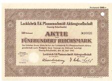 Lackfabrik Ed. Pfannenschmidt AG 1942  Danzig / Gdansk   jetzt Polen