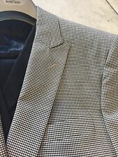 NWT ROSSI MAN Men's Multi Color Check Wool Suit Classic Fit One Button Size 52L