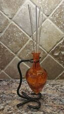 AMPHORA ORANGE REED DIFFUSER KIT metal Bracket *You Pick Scent Fragrance UNIQUE
