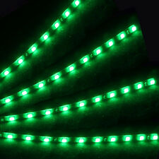 4X Green 15 LED 30cm Car Auto Grill Flexible Waterproof Strip Light SMD 12V CF-3