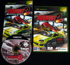 BURNOUT 2 POINT OF IMPACT Xbox Versione Spagnola gioco in Italiano ○○○○ COMPLETO