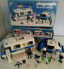 Playmobil Playpeople POLICE Emergency SET 1758/1 Boxed POLICE BOBBY Figure RARE