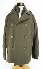 Levis Green Peacoat  Wool Blend  With Zippered Vest Medium