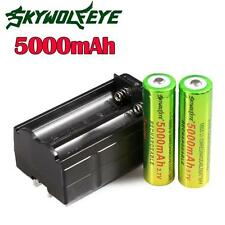 3.7V 18650 5000mAh Li-ion Rechargeable Battery + US Charger For Torch Flashlight