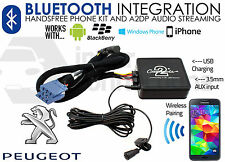 Peugeot 407 Bluetooth music streaming handsfree adapter car RD3 AUX MP3 iPhone