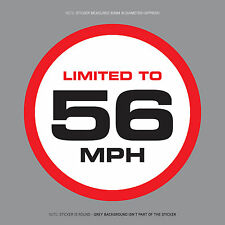 SKU1115 - LIMITED TO 56 MPH Vehicle Speed Restriction Sticker Vinyl Car Van 80mm