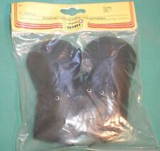 "pair of doll shoes/ artificial leather 4 7/8"" black/ Glorex"