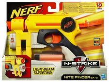 Brand New NERF N-Strike NITE FINDER EX-3 Dart BLASTER