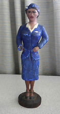 Vintage carved wood statue Pan Am Stewardess Uniform Pan American Advertising ?