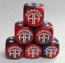 "DICE CHX CUSTOM US ARMY *82nd AIRBORNE*-GEMINI BLUE/RED w/WHITE ""AA"" AS #1 SALE!"
