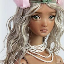 OOAK Porcelain BJD . Chocolate Mocha Dressed Echo Fine Art Doll by FHDolls