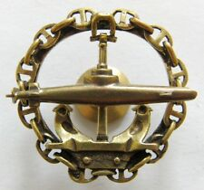 Russian Navy Submarine Military Sailor Uniform Brass Badge Screwback