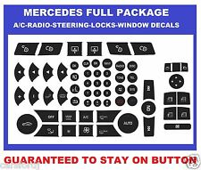 2007-2014 MERCEDES BENZ RADIO AC POWER WINDOW BUTTON STEERING AND LOCKS DECALS