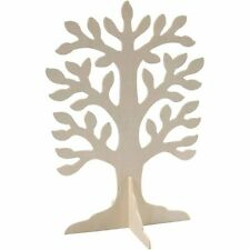 Wooden Tree Shape & Stand - Wedding Guest Book Family Tree - Craft Decorate GIFT