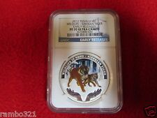 2012 Wildlife in Need - SIBERIAN TIGER 1oz .999 Silver Proof Coin NGC PF70 hot
