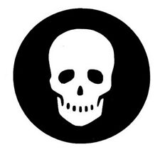 Skull Sticker for Harley Indian West Coast Chopper Bike Pirate Spooky Bones